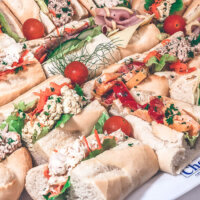 Mini baguettes by Cherry's Catering