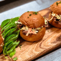 Mini sliders by Cherry's Catering