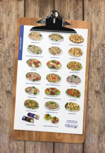 Cherry's Catering dropoff platters catering menu